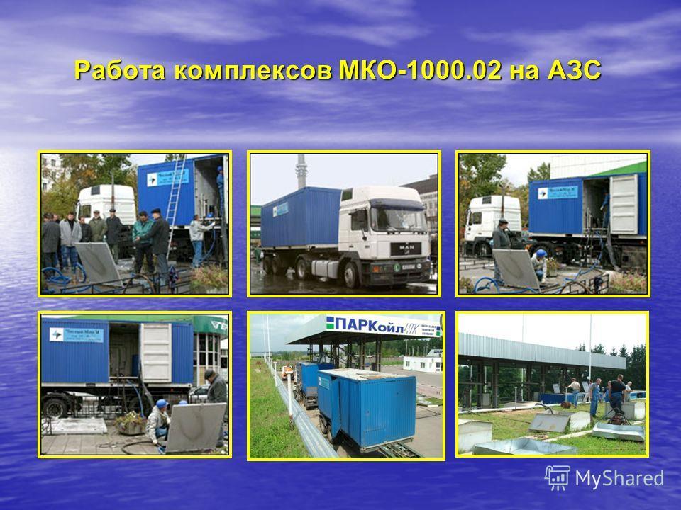 Работа комплексов МКО-1000.02 на АЗС