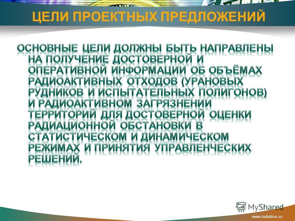 www.radiation.uz Историческая справка Геологоразведочные работы начались в конце 40-х годов на востоке республики 1 Производство урана началось в 1952 г. 2 В последующие годы в центральной части Узбекистана, в пустыне Кызыл-кум, было открыто крупное