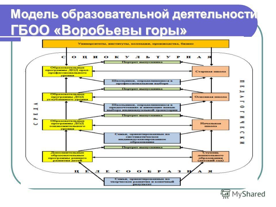 Модель образовательной деятельности ГБОО «Воробьевы горы»