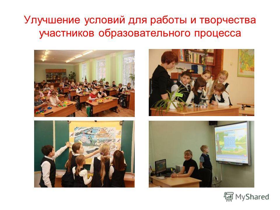 Улучшение условий для работы и творчества участников образовательного процесса