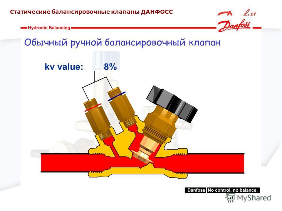 Обычный ручной балансировочный клапан Статические балансировочные клапаны ДАНФОСС
