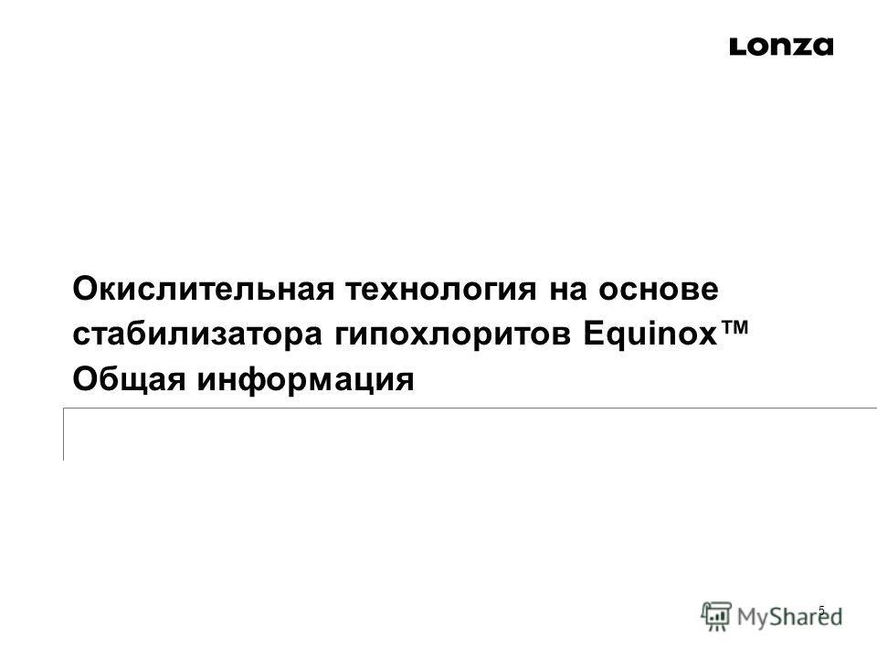 Окислительная технология на основе стабилизатора гипохлоритов Equinox Общая информация 5