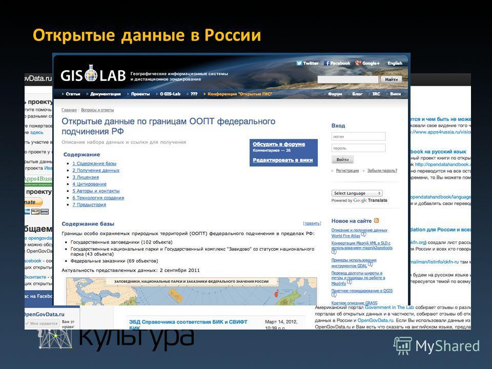 Открытые данные в России