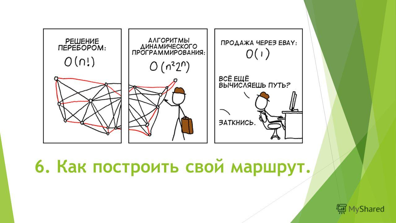 6. Как построить свой маршрут.