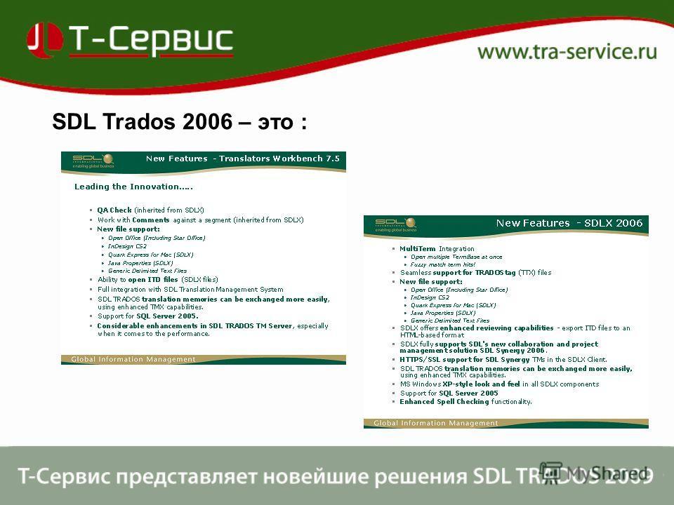 SDL Trados 2006 – это :
