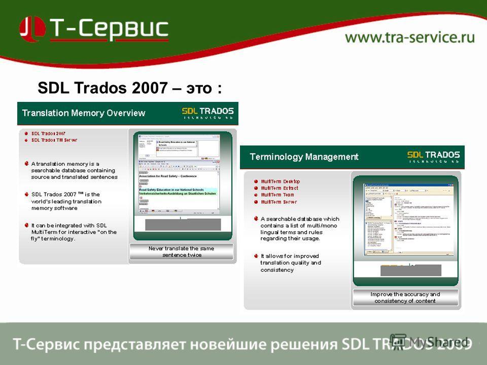 SDL Trados 2007 – это :