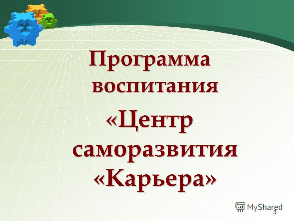 3 Программа воспитания «Центр саморазвития «Карьера»