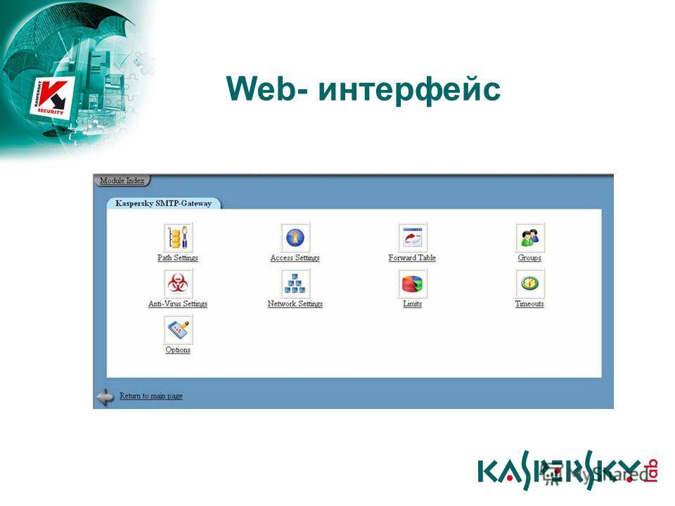 Web- интерфейс
