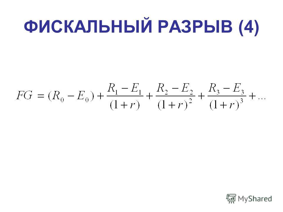 ФИСКАЛЬНЫЙ РАЗРЫВ (4)