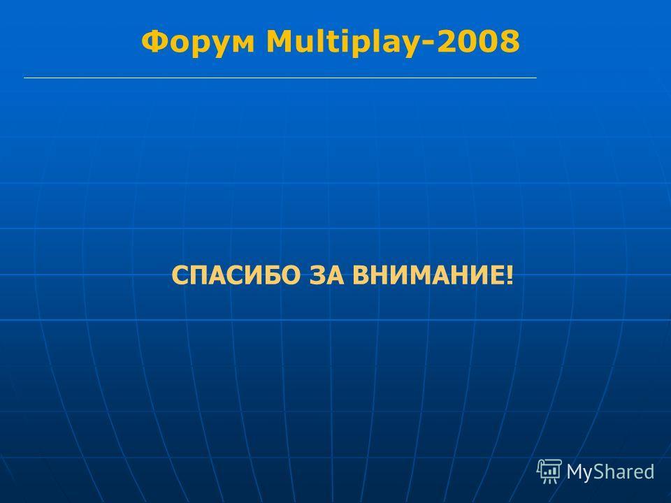 Форум Multiplay-2008 СПАСИБО ЗА ВНИМАНИЕ!