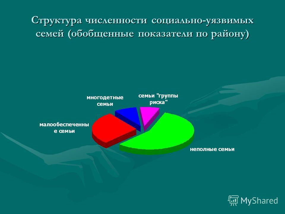 Структура численности социально-уязвимых семей (обобщенные показатели по району)