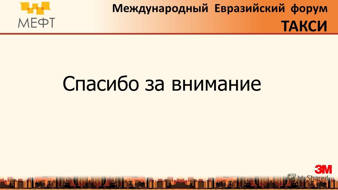 Международный Евразийский форум ТАКСИ Спасибо за внимание
