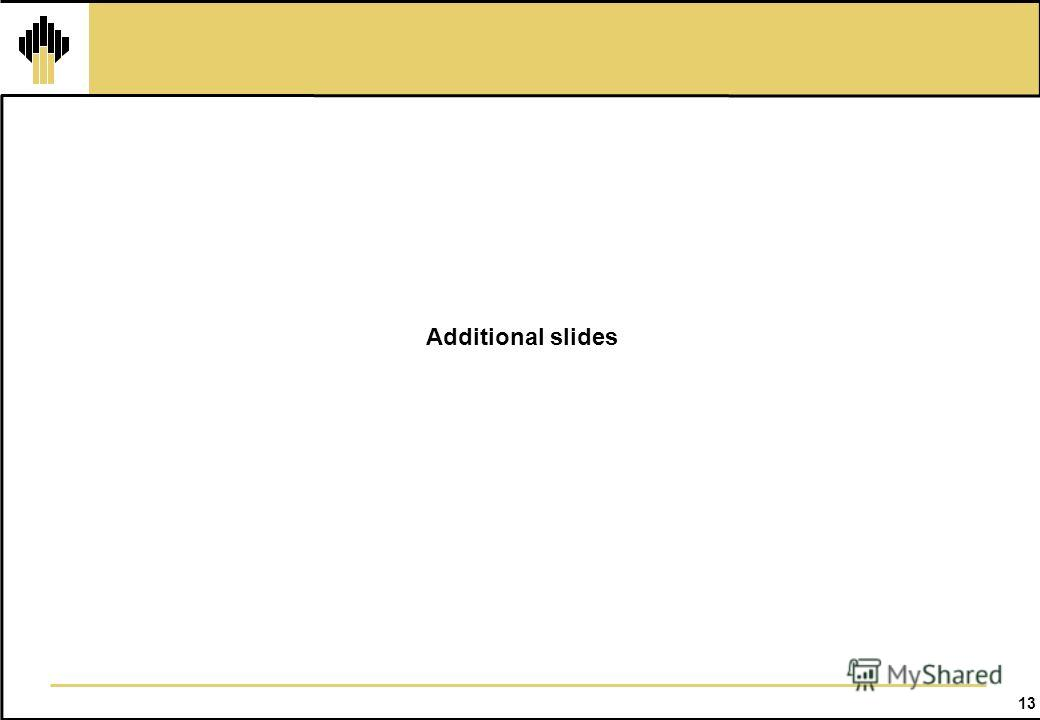13 Additional slides