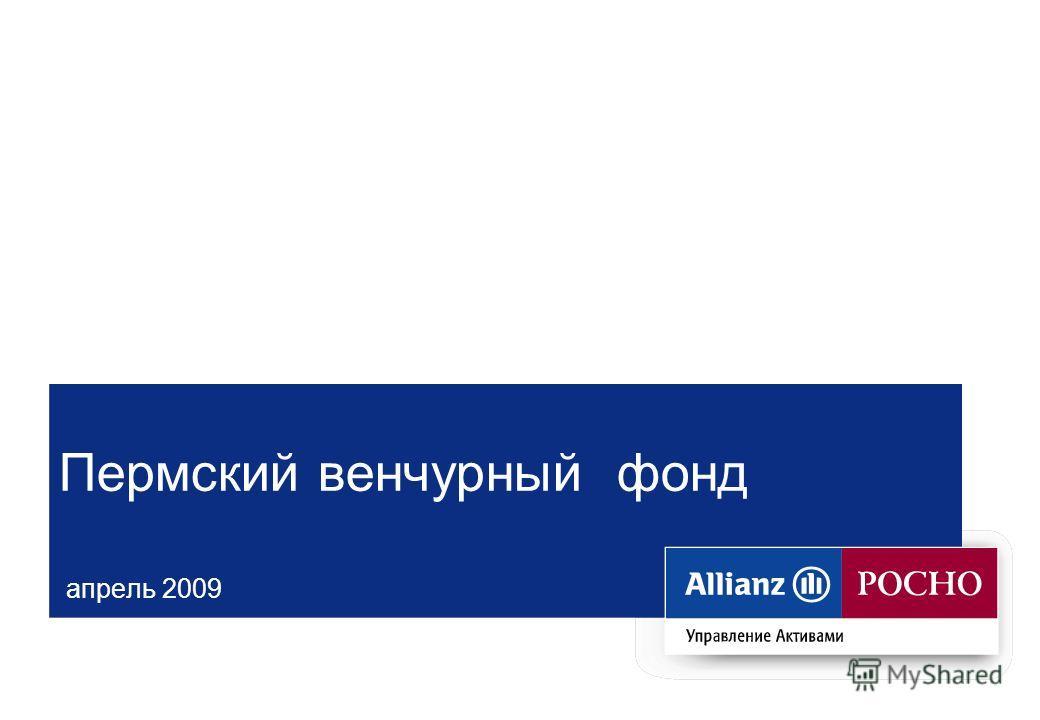Пермский венчурный фонд апрель 2009