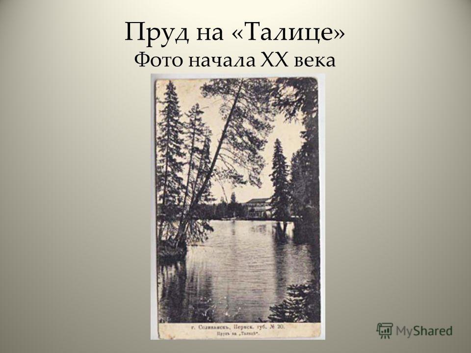 Пруд на «Талице» Фото начала XX века