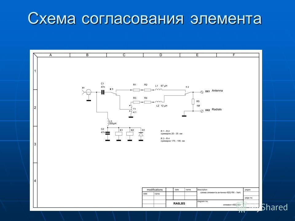 Схема согласования элемента