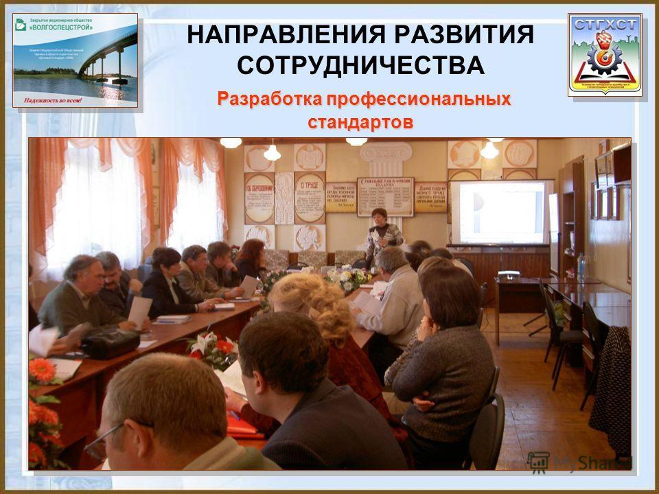 Разработка профессиональных стандартов НАПРАВЛЕНИЯ РАЗВИТИЯ СОТРУДНИЧЕСТВА Разработка профессиональных стандартов