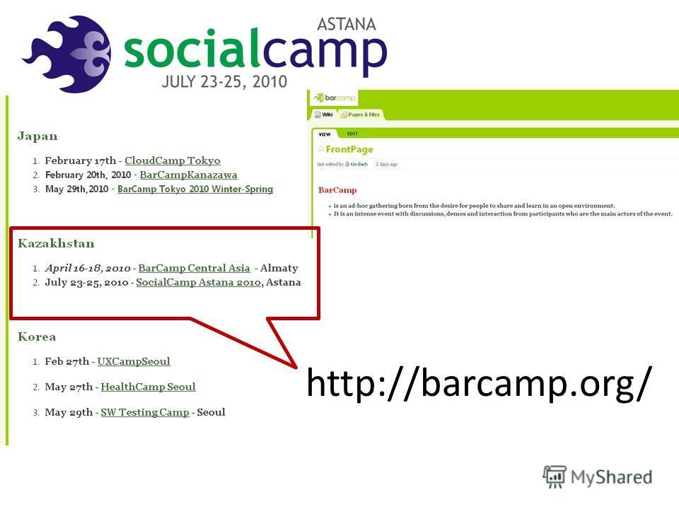 http://barcamp.org/