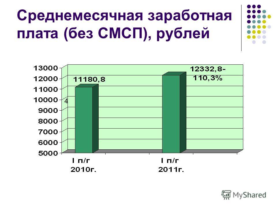 Среднемесячная заработная плата (без СМСП), рублей 4