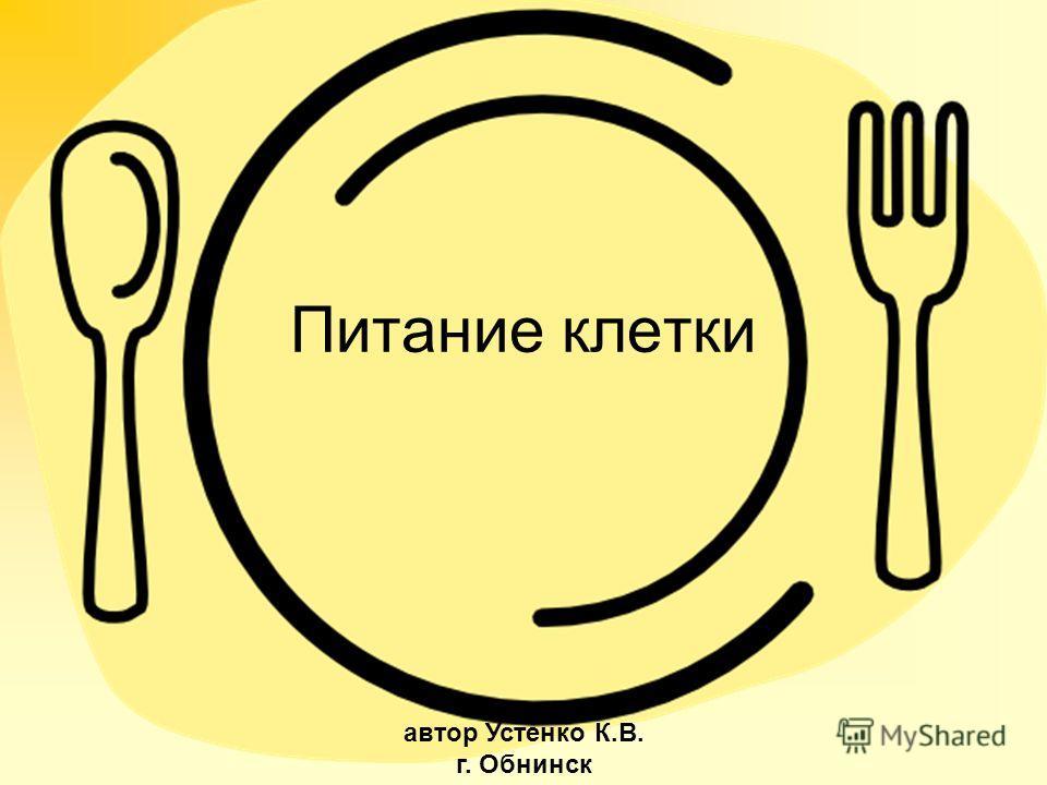 Питание клетки автор Устенко К.В. г. Обнинск