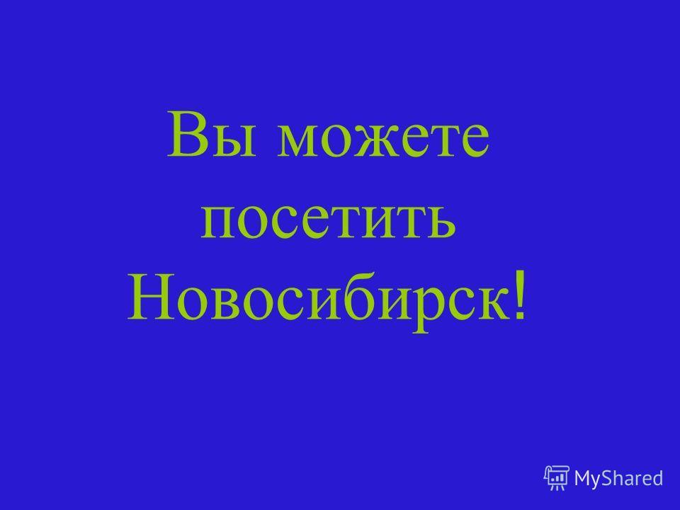 Вы можете посетить Новосибирск !