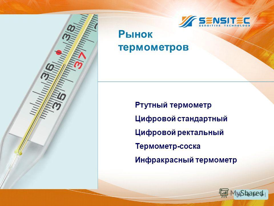 Ртутный термометр Цифровой стандартный Цифровой ректальный Термометр-соска Инфракрасный термометр Рынок термометров
