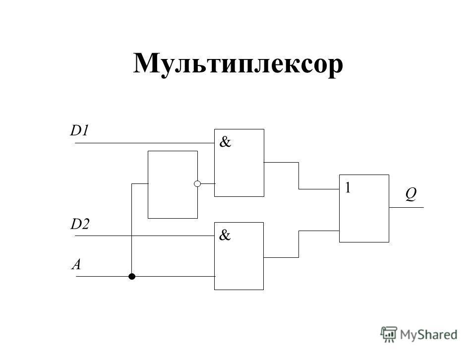 Мультиплексор & & D2 D1 1 Q A