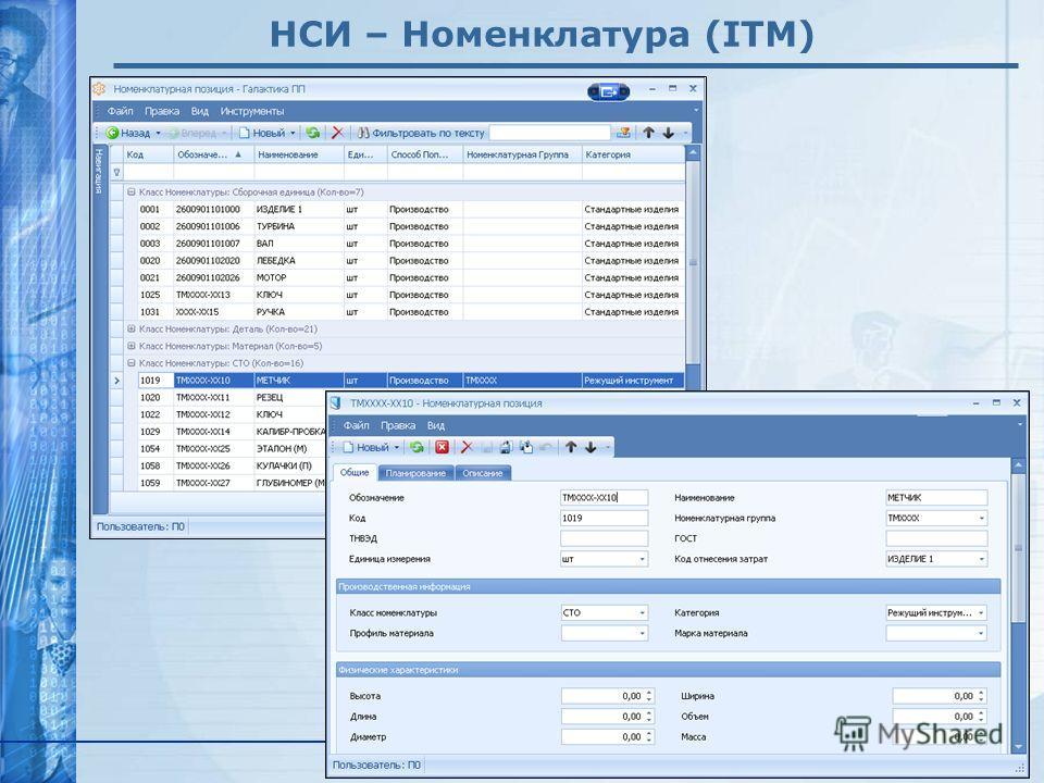 www.galaktika.ru НСИ – Номенклатура (ITM)