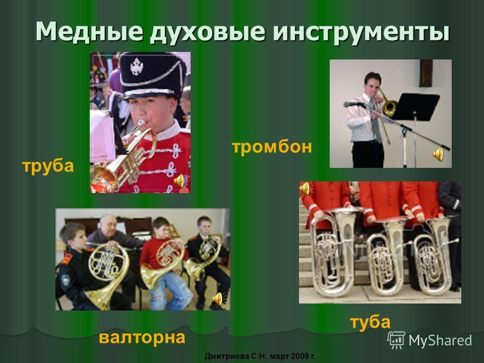Деревянные духовые инструменты флейта гобой фагот кларнет Дмитриева С.Н. март 2009 г.