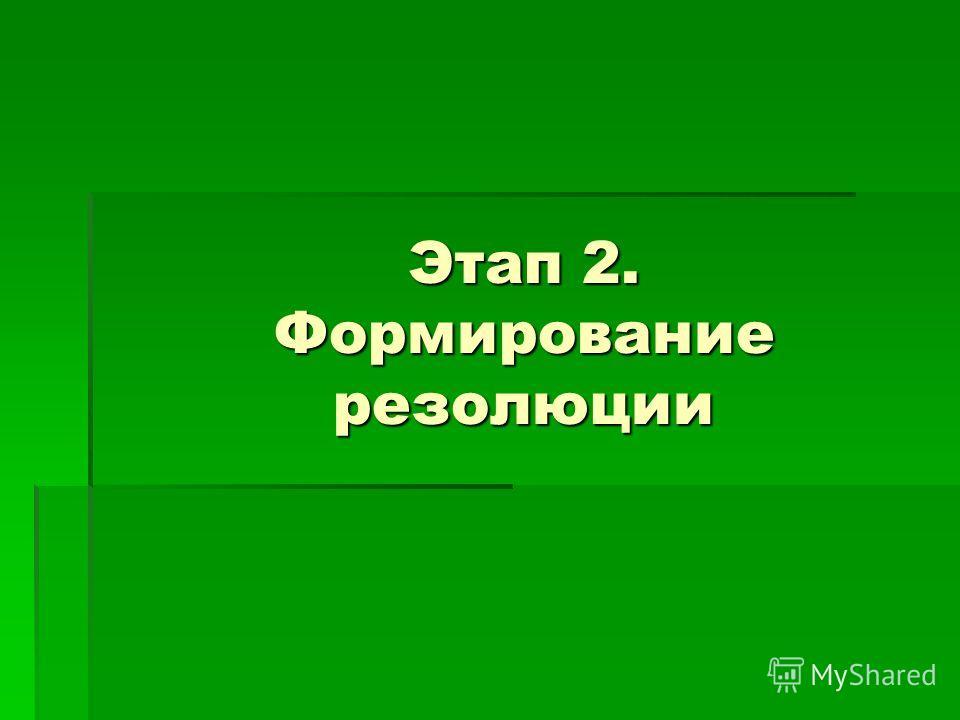 Этап 2. Формирование резолюции