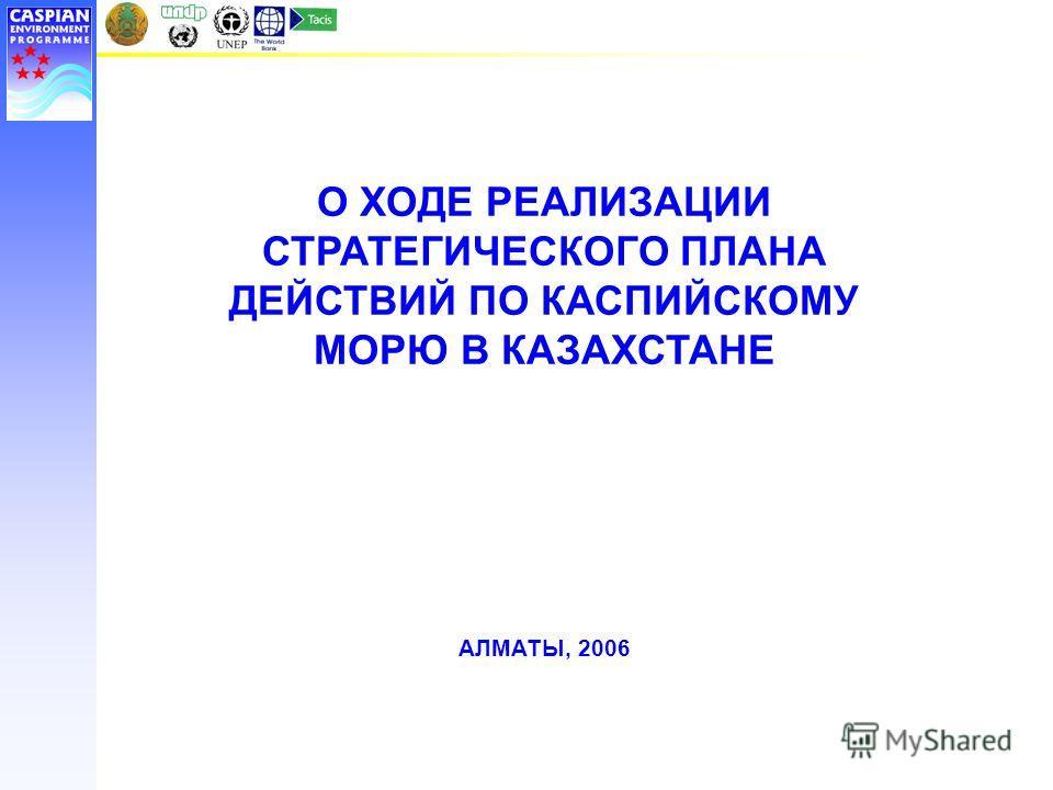 О ХОДЕ РЕАЛИЗАЦИИ СТРАТЕГИЧЕСКОГО ПЛАНА ДЕЙСТВИЙ ПО КАСПИЙСКОМУ МОРЮ В КАЗАХСТАНЕ АЛМАТЫ, 2006