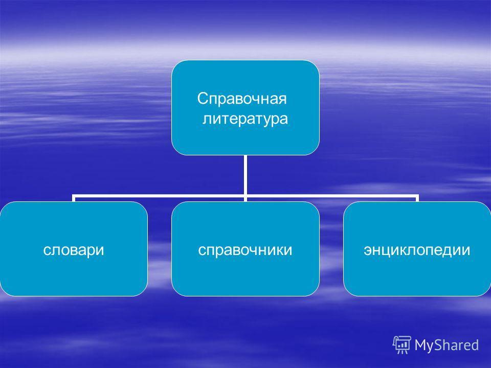 Справочная литература словарисправочникиэнциклопедии