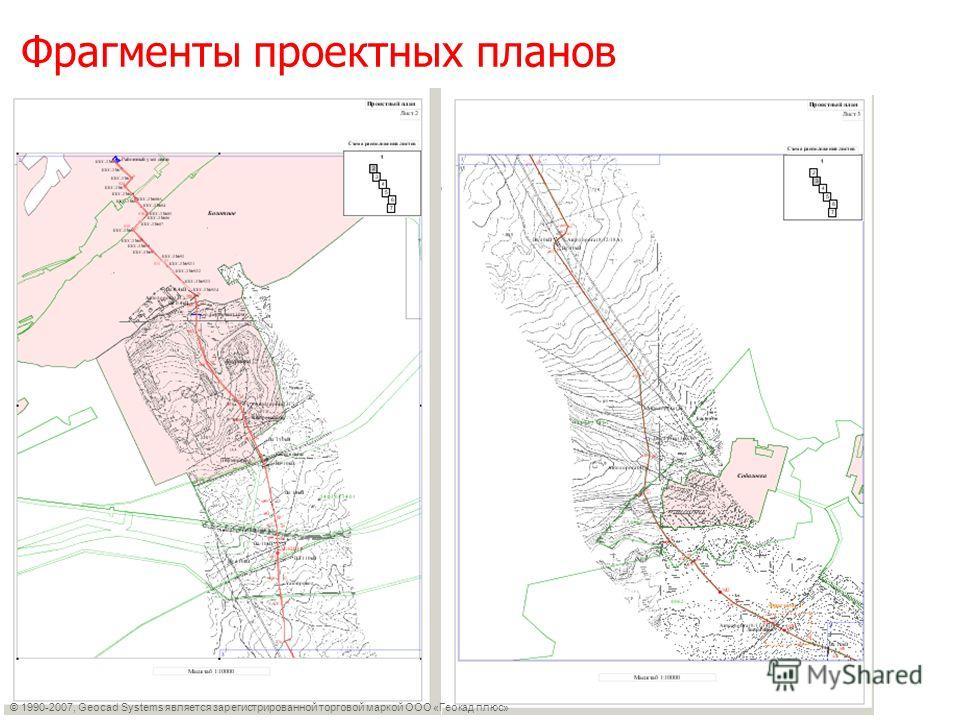 Фрагменты проектных планов © 1990-2007, Geocad Systems является зарегистрированной торговой маркой ООО «Геокад плюс»