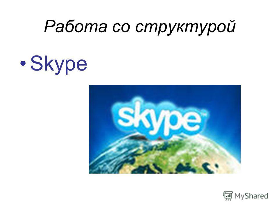 Работа со структурой Skype