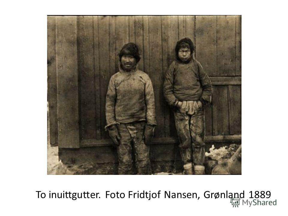 To inuittgutter. Foto Fridtjof Nansen, Grønland 1889