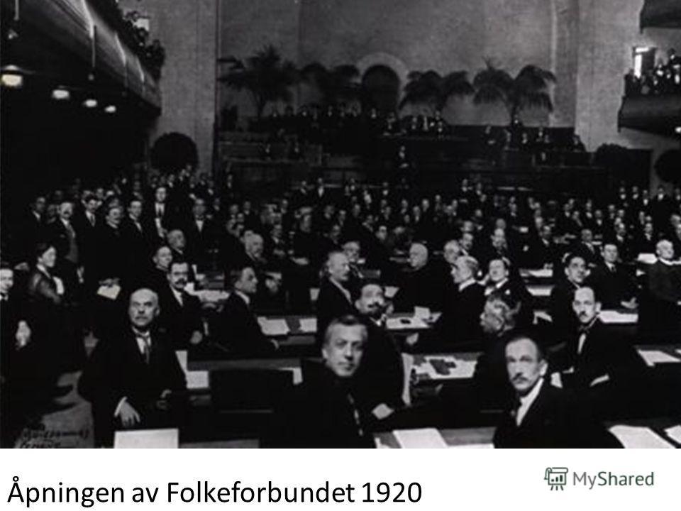 Åpningen av Folkeforbundet 1920