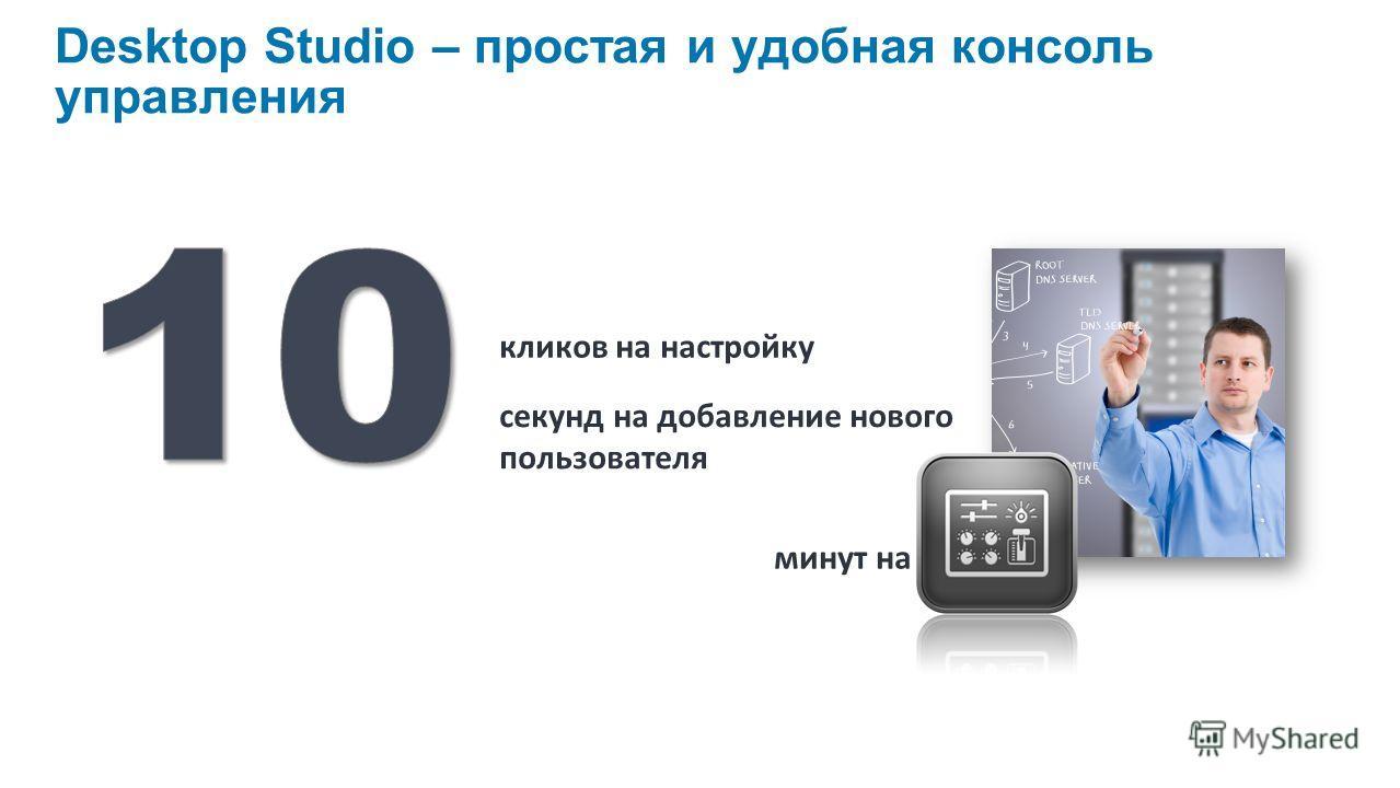 Desktop Studio – простая и удобная консоль управления минут на установку кликов на настройку секунд на добавление нового пользователя