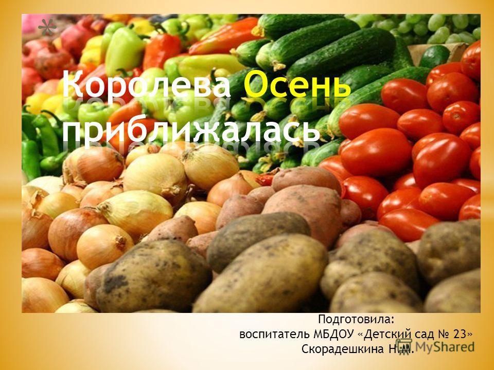 Подготовила: воспитатель МБДОУ «Детский сад 23» Скорадешкина Н.М.