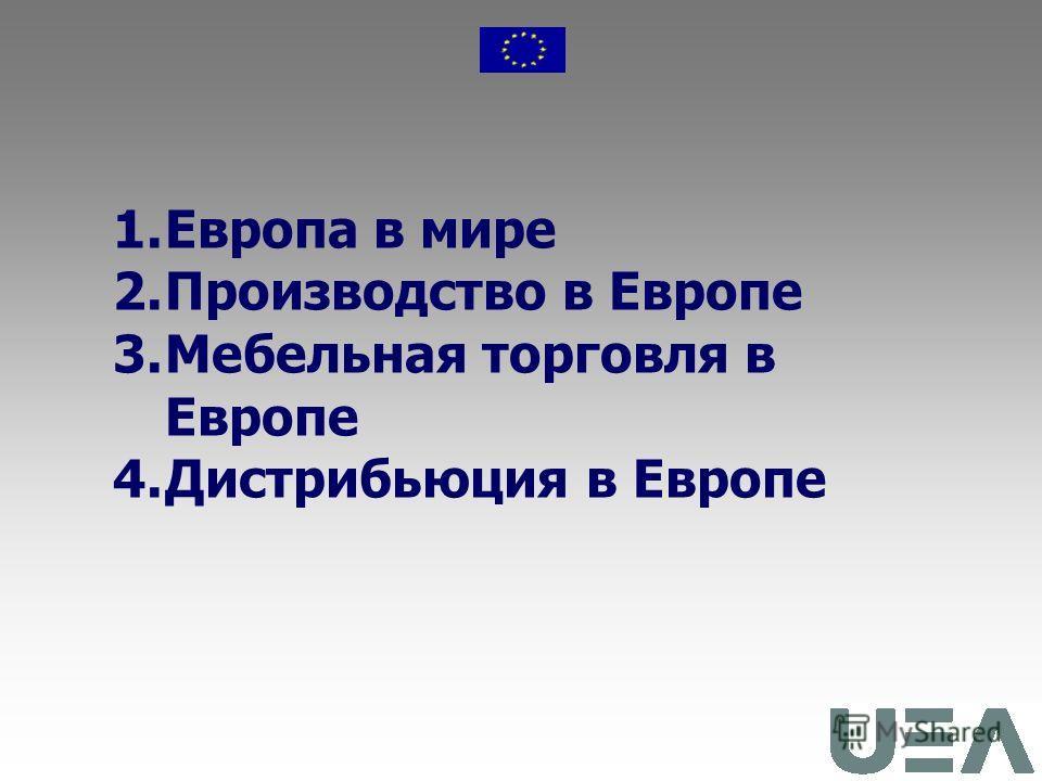 Мебельный рынок Европы Павел Кимтсарис Европейская Ассоциация производителей мебели Приложение 2 к Информационному бюллетеню 31, сентябрь-ноябрь 2007г.