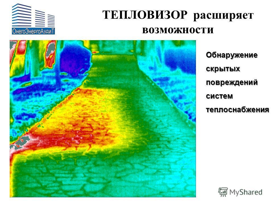 ТЕПЛОВИЗОР расширяет возможности Обнаружение скрытых повреждений систем теплоснабжения Обнаружение скрытых повреждений систем теплоснабжения