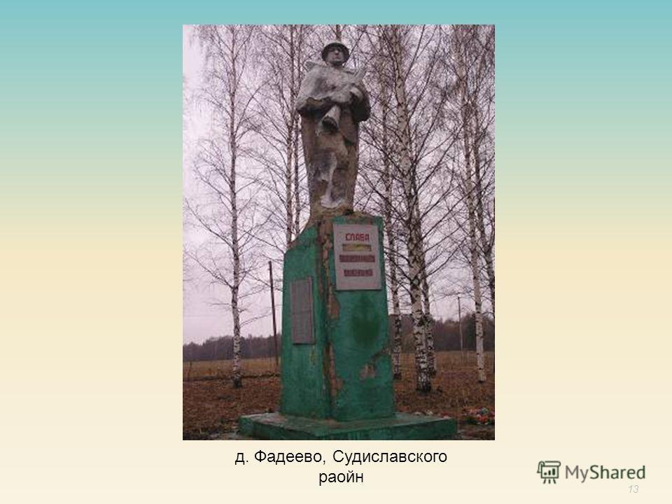 13 д. Фадеево, Судиславского раойн