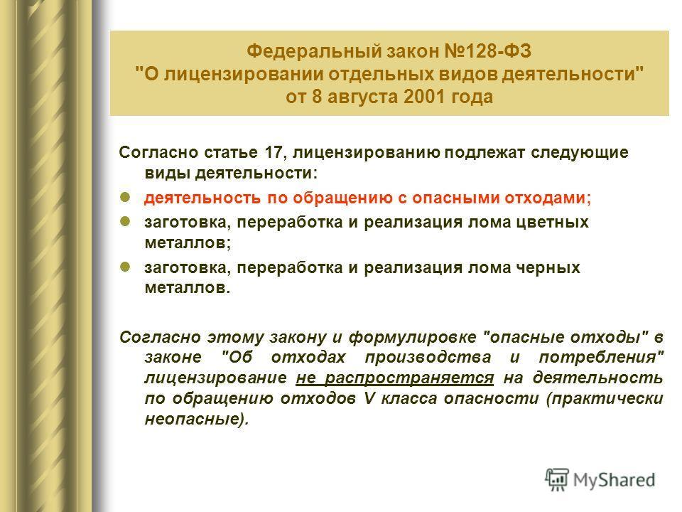Федеральный закон 128-ФЗ