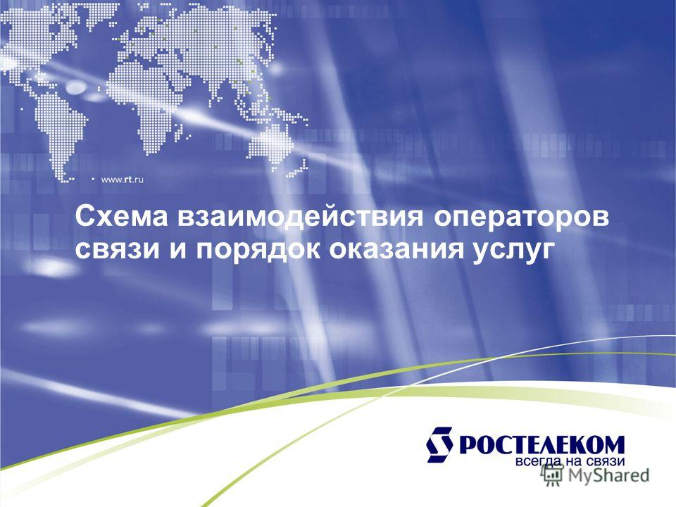 Схема взаимодействия операторов связи и порядок оказания услуг
