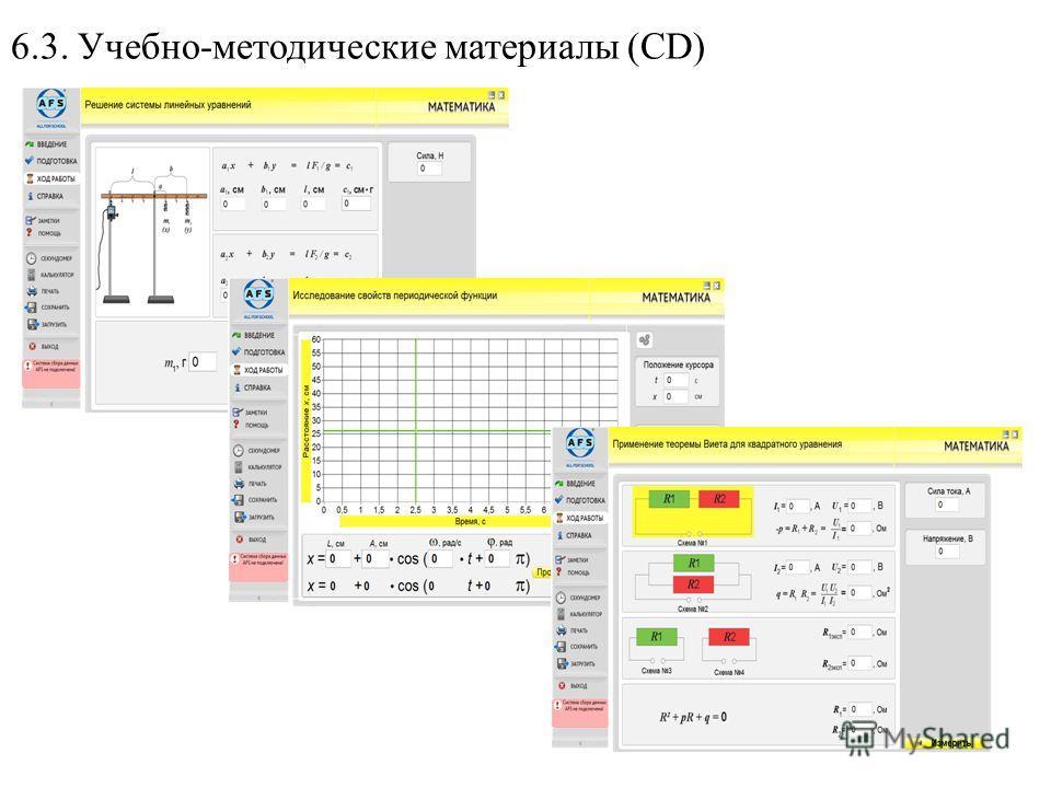 6.3. Учебно-методические материалы (CD)