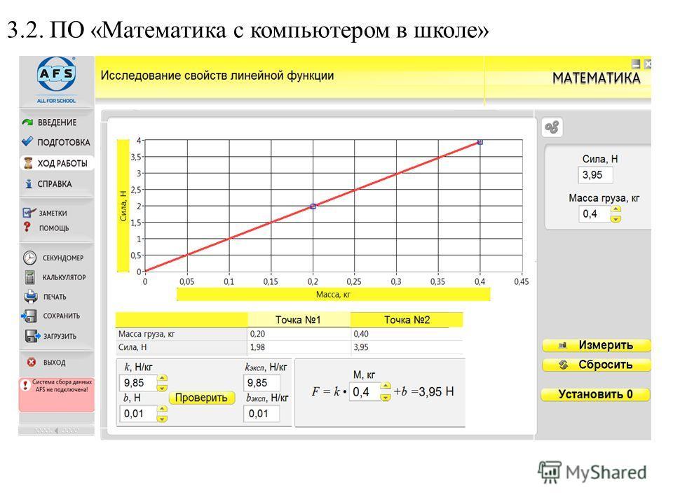 3.2. ПО «Математика с компьютером в школе»