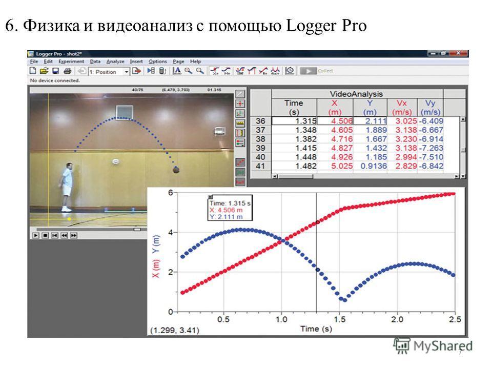 7 6. Физика и видеоанализ с помощью Logger Pro