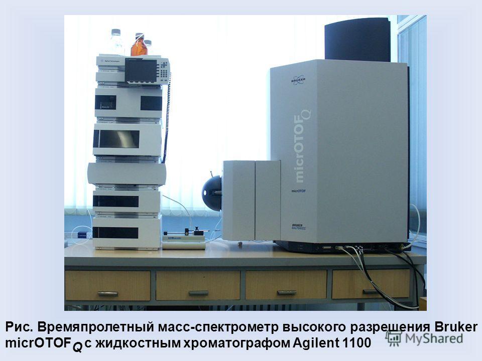 Рис. Времяпролетный масс-спектрометр высокого разрешения Bruker micrOTOF Q с жидкостным хроматографом Agilent 1100