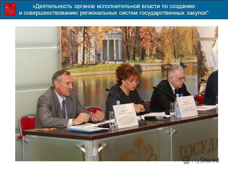 «Деятельность органов исполнительной власти по созданию и совершенствованию региональных систем государственных закупок