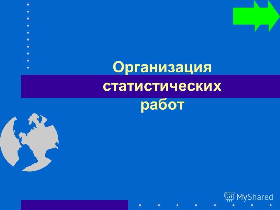 Организация статистических работ
