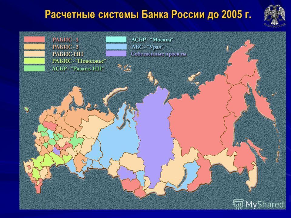 Расчетные системы Банка России до 2005 г.